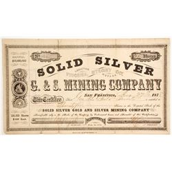 Solid Silver G. & S. Mining Company Stock  (88130)