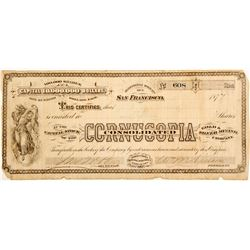 Cornucopia Consolidated Gold & Silver Mining Co. Stock  (60249)