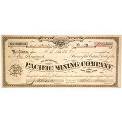 Pacific Mining Co. Stock Signed by Skae, G.T. Brown  (85771)