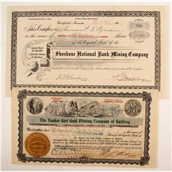 2 Goldfield, NV Mining stocks  (88412)