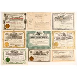 9 Goldfields stock certificates  (88417)