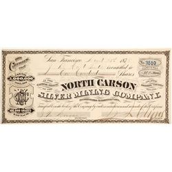 North Carson Silver Mining Company Stock - A Rarer GT Brown Lithograph  (88117)