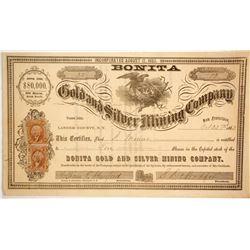 Bonita Gold & Silver Mining Company  (86065)