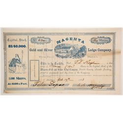 Magenta Gold and Silver Ledge Company Stock  (86072)