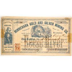 Minnehaha Gold and Silver Mining Company Stock  (86061)