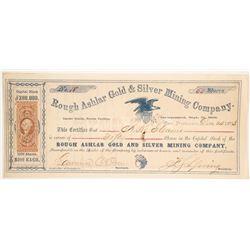 Rough Ashlar Gold & Silver Mining Company Stock  (86070)