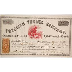 Totowah Tunnel Company Stock  (86069)