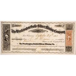 Washington Gold and Silver Mining Company Stock  (86066)