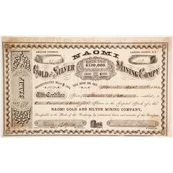 Naomi Gold and Silver Mining Company Stock  (86126)