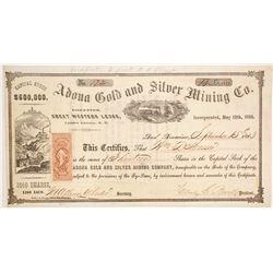 Adona Gold and Silver Mining Company Stock  (86117)