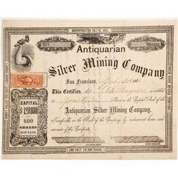 Antiquarian Silver Mining Company Stock  (84569)
