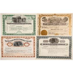 3 Mining stocks / 1 Railroad stock  (86558)