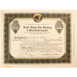 Death Valley Talc Refining & Manufacturing Co. Stock Certificate  (51542)