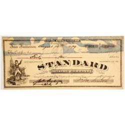 Standard Mining Company - Signed by Borax Smith  (88115)