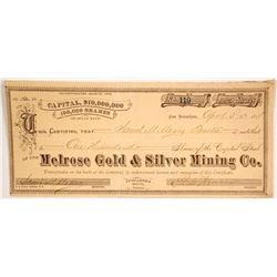 Melrose Gold & Silver Mining Co.  (86509)