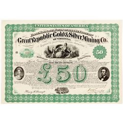 Great Republic Gold & Silver Mining Company Bond  (55074)