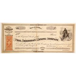 Phil Sheridan Mining Company Stock - 1 of 3 Sheridan stocks in this auction  (88127)