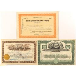 Nevada Mining Stock Certificates  (52363)