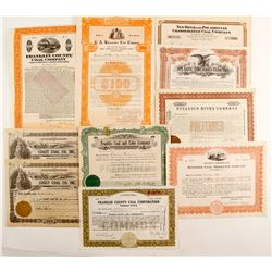 New Jersey Coal stock certificates/ bonds  (87230)