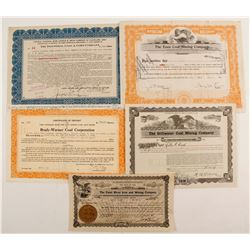 Ohio Coal stock certificates  (87229)