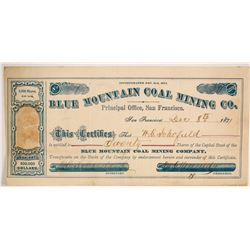 Blue Mountain Coal Mining CompanY Stock  (86153)