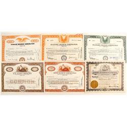 6 Radium Co stock certificates  (87220)