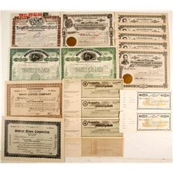 Mining Group Stock Certs. & Unissued Checks  (86826)