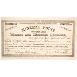 Mineral Point Consolidated Mining and Milling Company Stock  (86756)