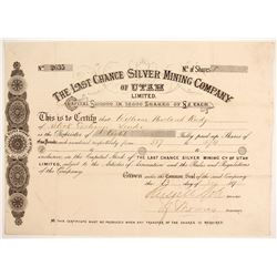 Last Chance Silver Mining Company of Utah Limited' Stock  (88041)