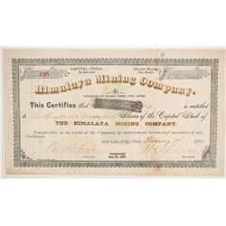 Himalaya Mining Company Stock  (86753)