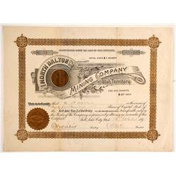 North Dalton Mining Company Stock with Gold Piece Vignette  (88057)