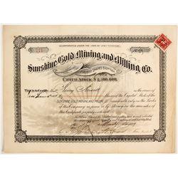 Sunshine Gold Mining Company Stock  (88052)