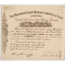 Mountain Chief Mining Company of Utah Stock  (86748)