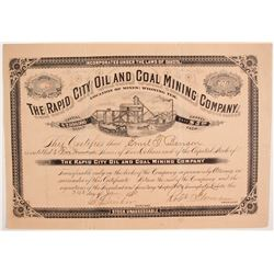 Rapid City Oil and Coal Mining Company Stock  (87910)