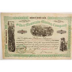 Silver Mountain Mining Company Stock  (87931)
