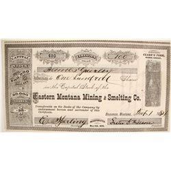 Eastern Montana Mining & Smelting Company Stocks  (87930)