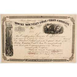 Rocky Mountain Coal and Iron Company Stock  (87916)
