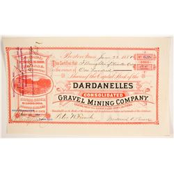Dardanelles Consolidated Gravel Mining Company Stock  (86773)