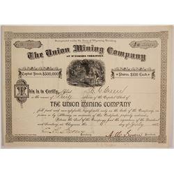 Union Mining Company of Wyoming Territory Stock  (88034)