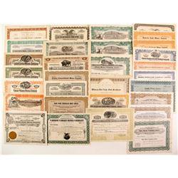 Ontario Mines - 30 stock certicates  (87241)