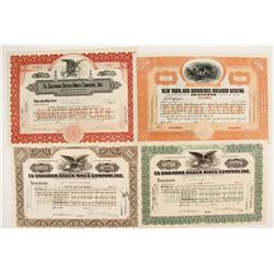4 Central American Mining stock certificates  (87251)