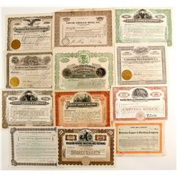 Diamond, Emerald & Gold So. American stock certificates  (87252)