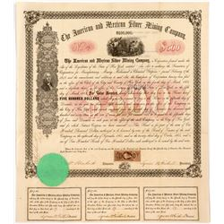 American & Mexican Silver Mining Company Mexican $500 Bond  (55037)