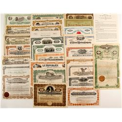 25 stock & 1 Mortg, Cert. 1 bond - Mexican Mines  (87246)