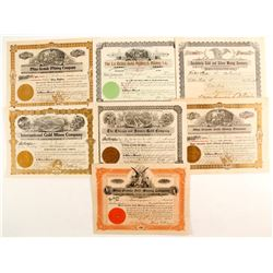 Mexican Gold Mining stock certificates  (87249)