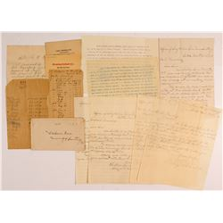 Assortment of 9 Salmon River Mining Butte MT Mining Documents  (50340)