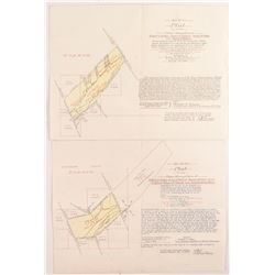 1905 Deer Lodge Placer Mining Maps/Patents  (50404)