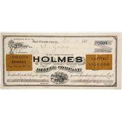 Holmes Mining Co. Stock, 1901  (88848)