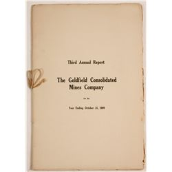 Goldfield Consolidated Mines Co. Third Annual Report for 1909  (60138)