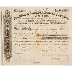 Eberhardt Aurora Mining Co. Stock, 1877  (88847)